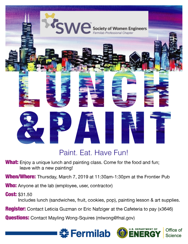Poster for Fermilab SWE Lunch & Paint